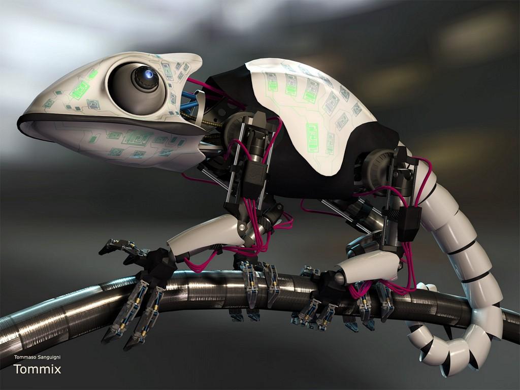 Mech chameleon by tommaso-sanguigni