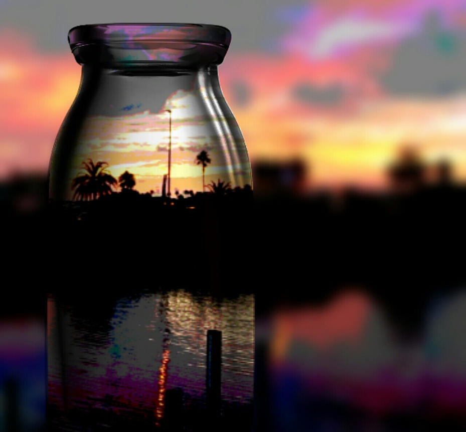 A Bottle Full of Sunset by cannedhubris