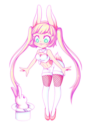 Bunny Magician by Yamuii
