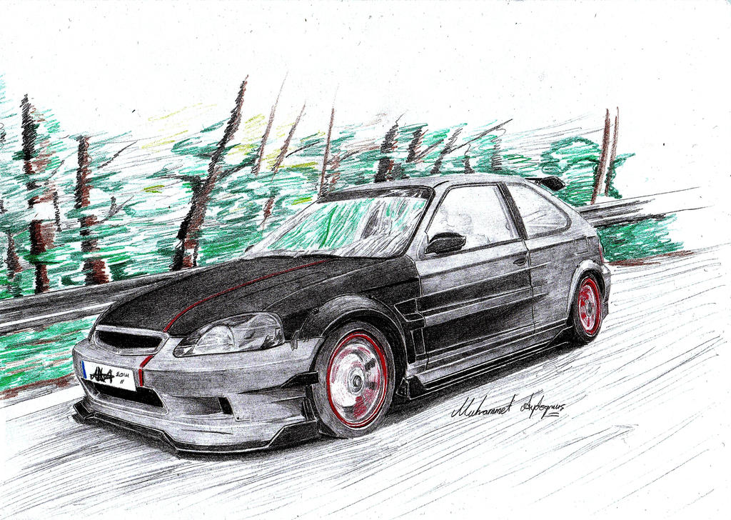 ''JDM'' Honda Civic EK9 by CptSky