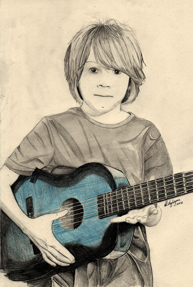 Boy With Guitar by CptSky