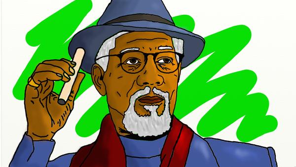 Morgan Freeman by mrgrey55