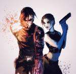 Kurtis Trent Lara Croft by Adayka