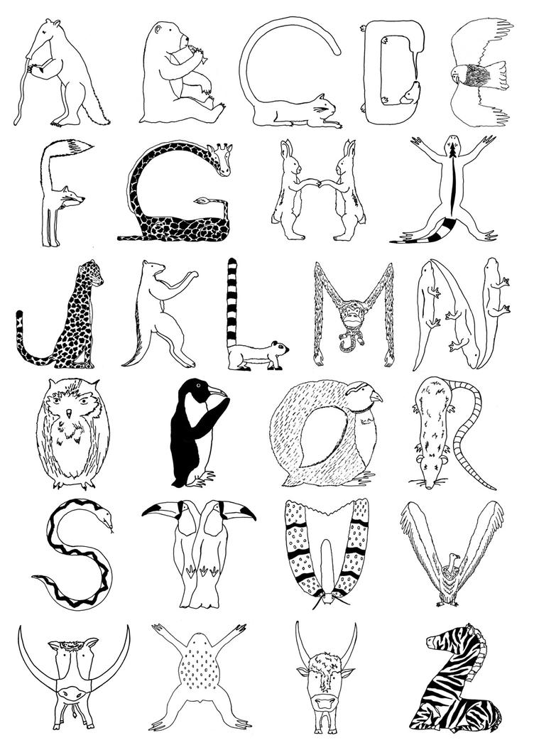 Daily Coloring Pages Animal Alphabet : Daily coloring pages animal alphabet