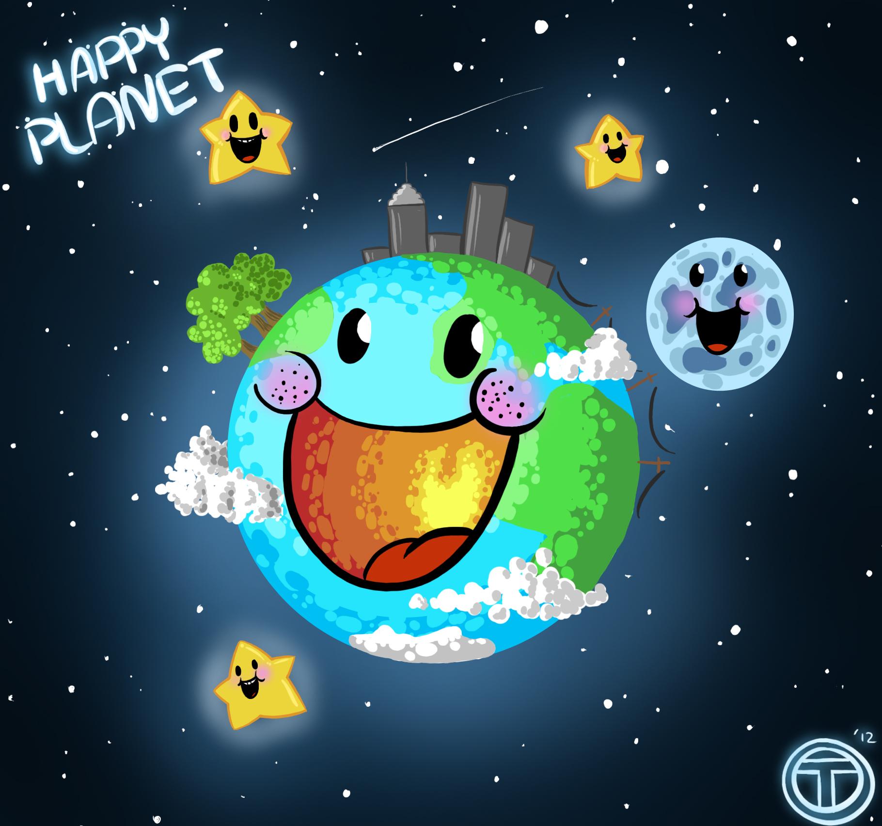 Прикольные планеты картинки