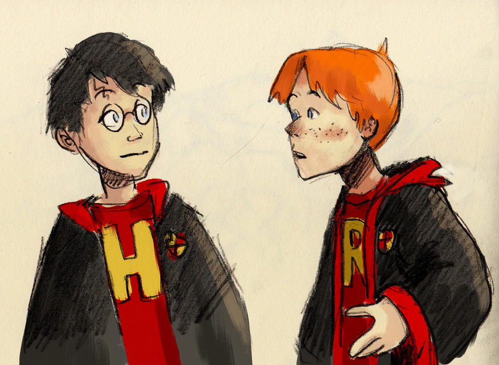 Harry and Ron - sketch by Tysirr