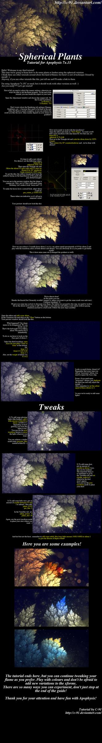 Spherical Plants Apophysis Tutorial by C-91