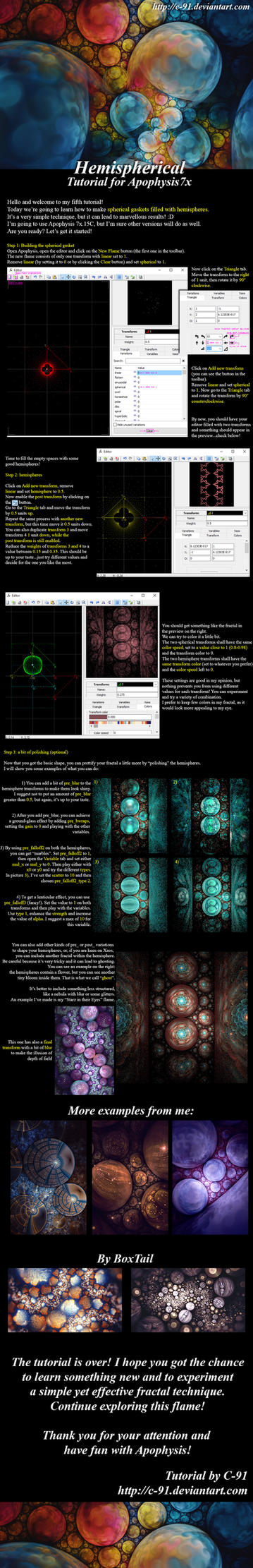 Hemispherical Apophysis Tutorial by C-91