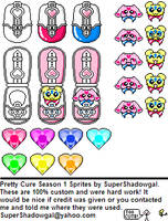 Pretty Cure Sprites by SuperShadowgal-I