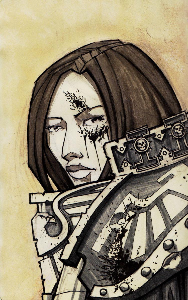 Portrait of a Sororitas by dForrest