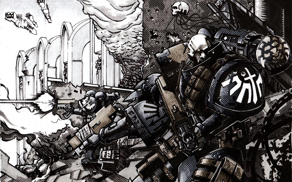 Dark Angels Tacticals Redux by dForrest