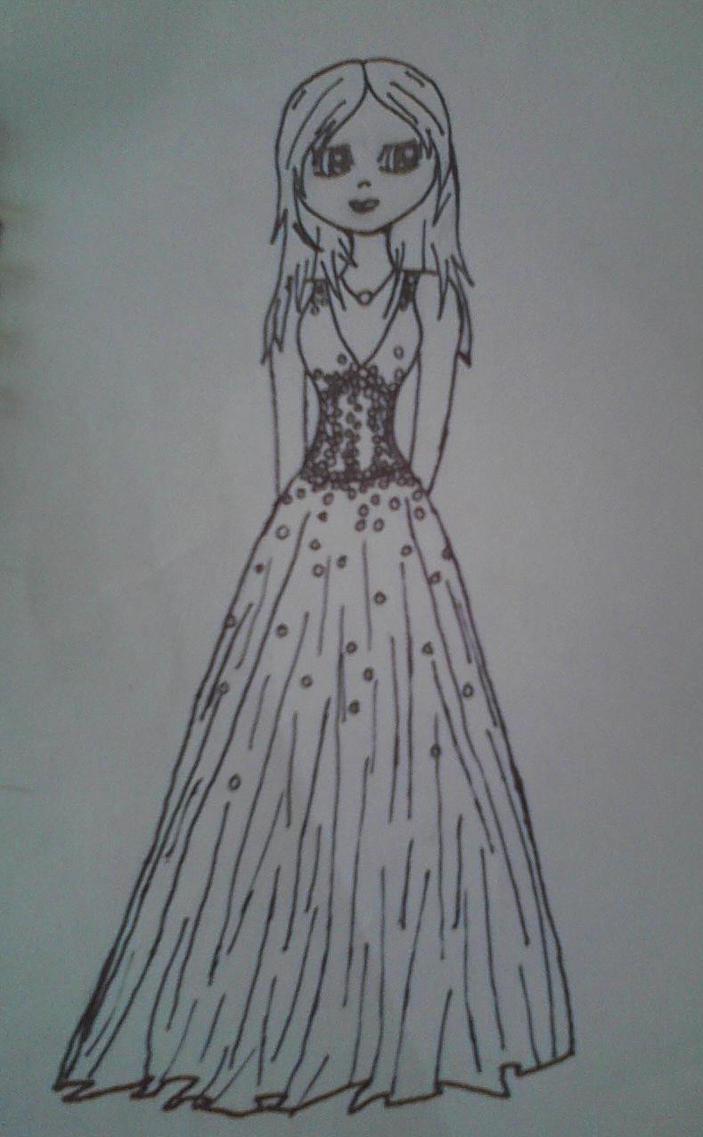 Prom Dress Sketch By BookWormJLG2010 On DeviantArt