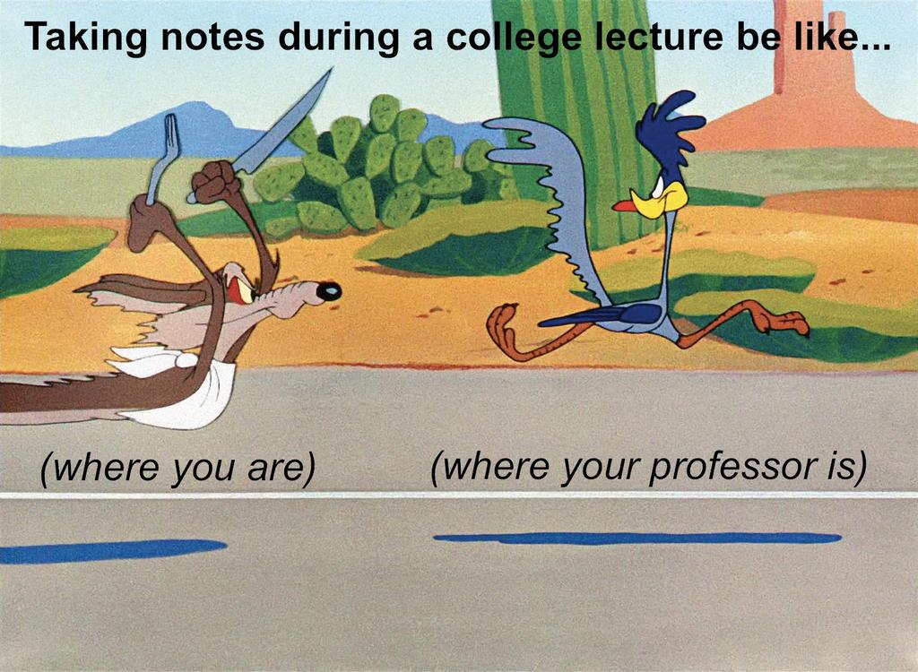 College Notetaking by boshthehedgehog