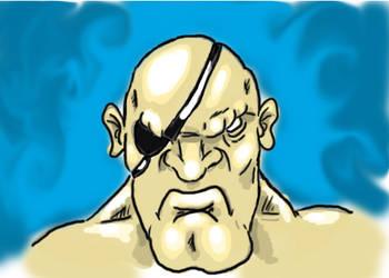 Sagat Doodle by CEG-Productions
