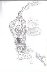 Sketch- SPIDER-ZOMBIE by CEG-Productions