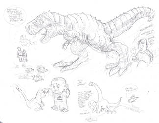Dinosaur Sketches by CEG-Productions