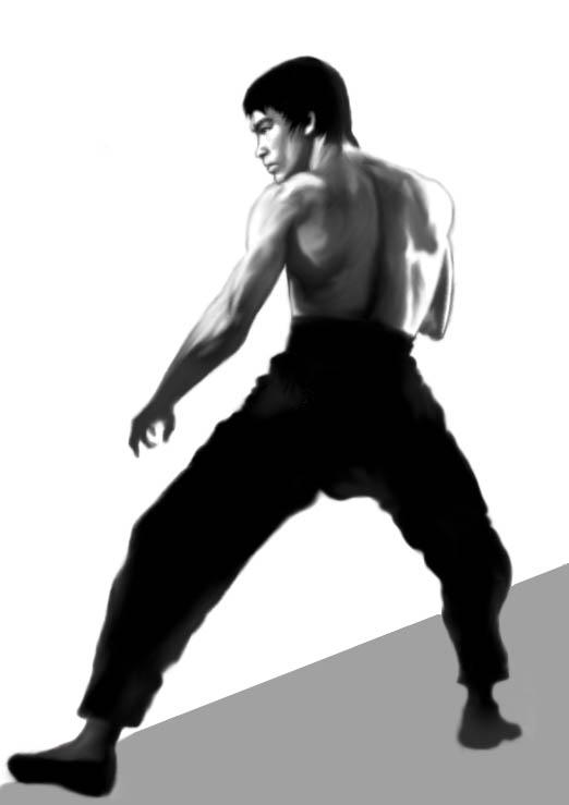 Bruce Lee Gris  by UrielKaido