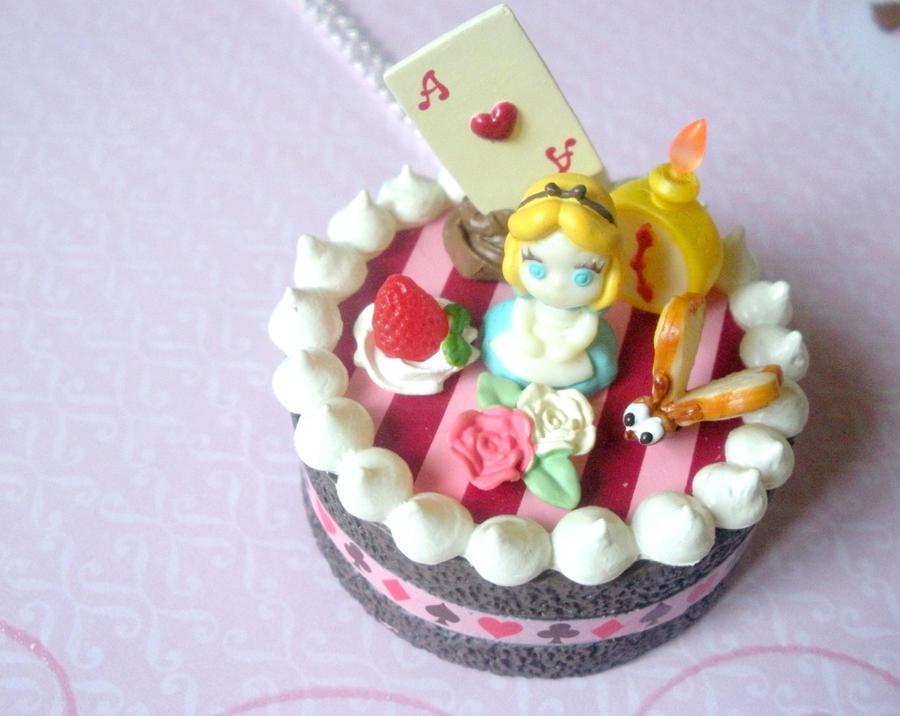 Alice in Wonderland cake by AmbiguousAngel