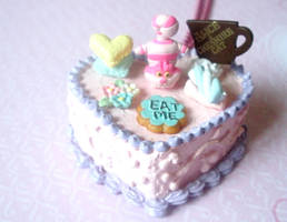 Cheshire Cat Cake Necklace by AmbiguousAngel