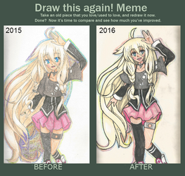 Draw this Again! Meme: IA