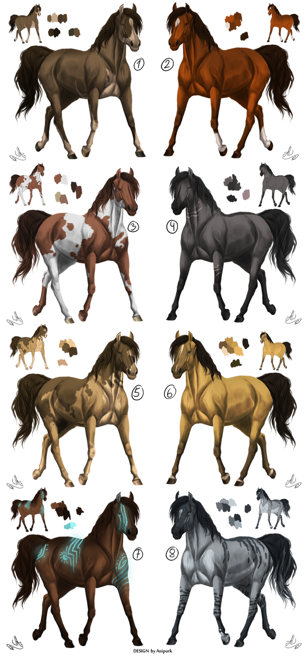 Adoptables - Horse Closed by Anipurk