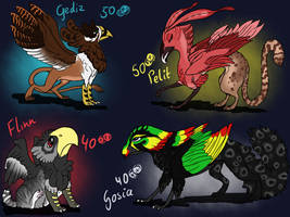 Adoptables - Griffins Closed