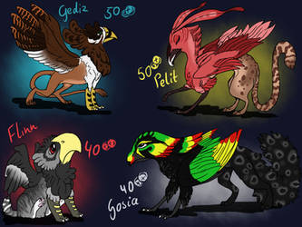 Adoptables - Griffins Closed by Anipurk