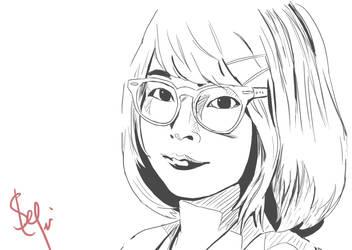Okitegami Kyoko Sketch by Ernestalice15