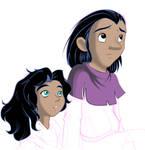 Children Clopin and Esmerelda
