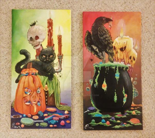 Halloween Paintings by MoostarGazer