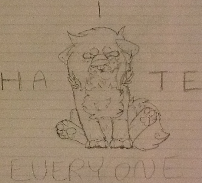 I Hate Everyone by FuzzyThePunkCat