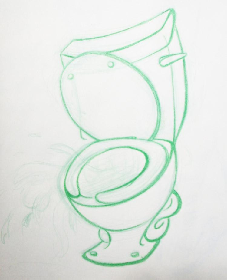 Toilet Tattoo by PrettyRedWolf