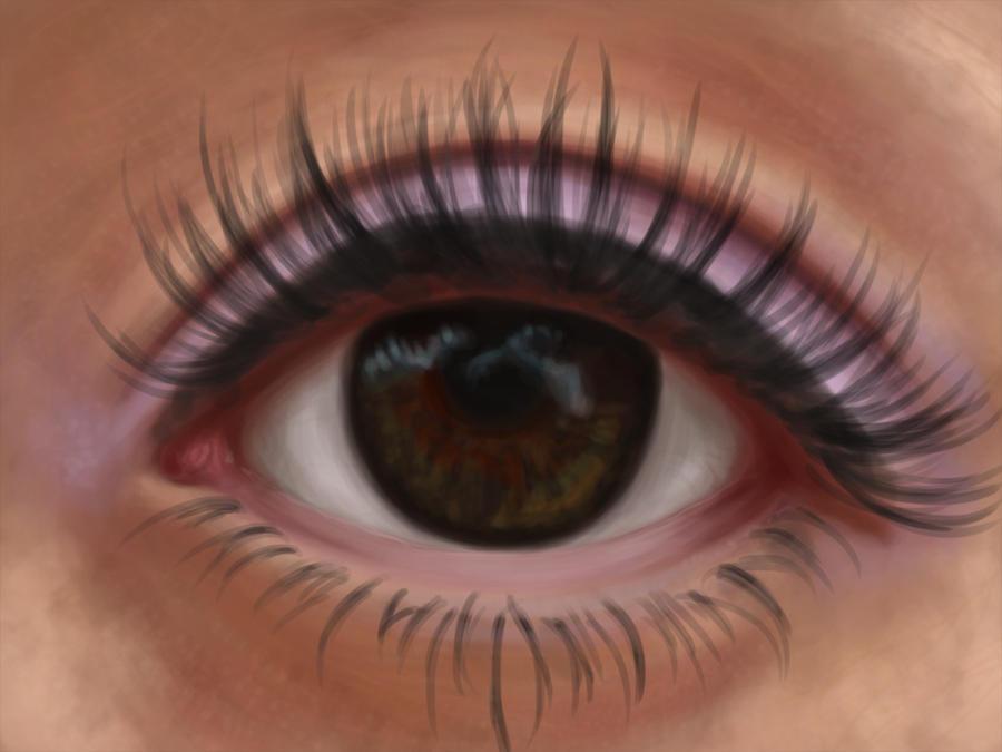 Eye Painting by PrettyRedWolf