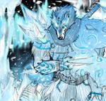 God King:  Tundra Wolf-Beast by BonnyJohn