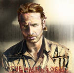 Rick Grimes The Walking Dead w Speed Painting