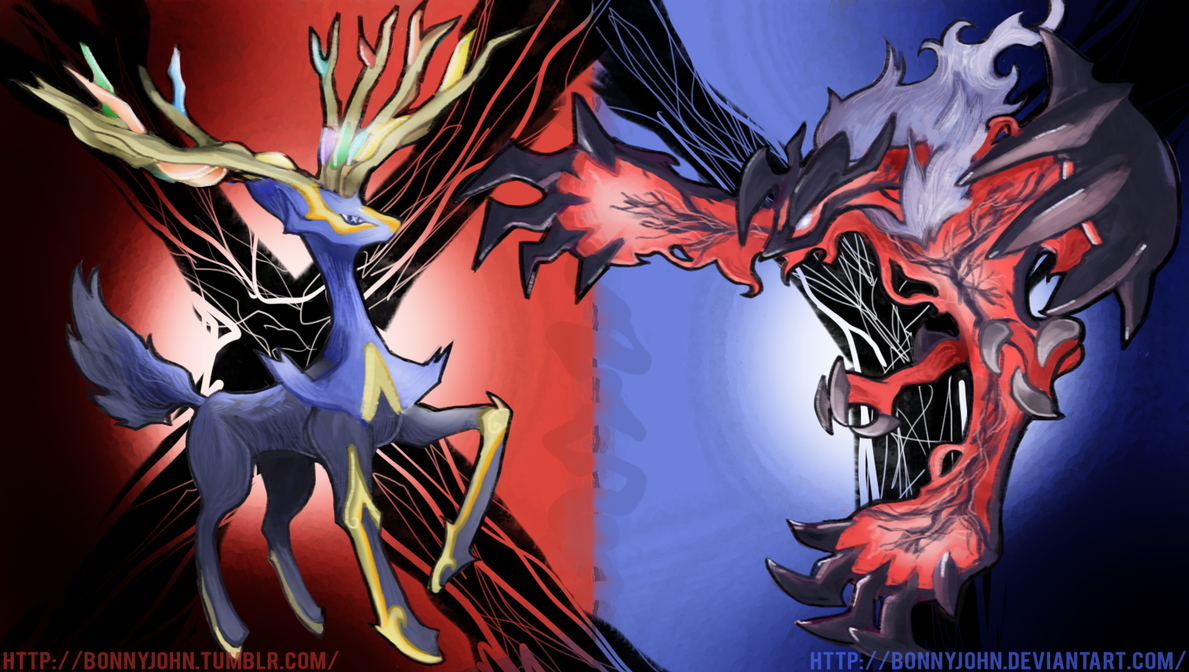 Xerneas and Yveltal w/ Speed Painting by BonnyJohn on ...