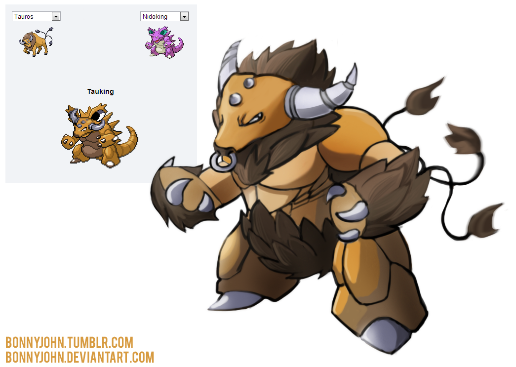 Connu Pokemon Fusion 5 - TAUKING by BonnyJohn on DeviantArt QQ74