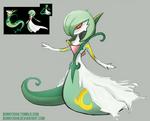 Pokemon Fusion 9 SERDEVOIRE (Gardevoire+Serperior) by BonnyJohn