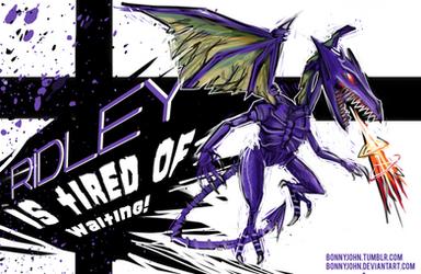 Ridley for Smash Bros. Wii U! (NintyFans Contest) by BonnyJohn