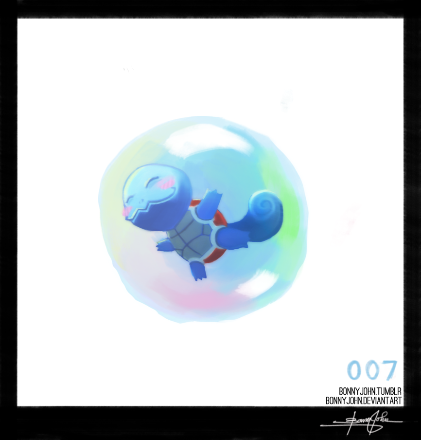 Squirtle ! Pokemon One a Day! by BonnyJohn