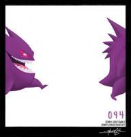 Gengar!  Pokemon One a Day! by BonnyJohn