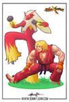 Ken x Blaziken - Pokemon x Street Fighter by BonnyJohn