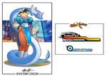 Chun Li x Dragonair - Street Fighter x Pokemon by BonnyJohn