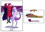 M. Bison x Mewtwo - Street Fighter x Pokemon by BonnyJohn
