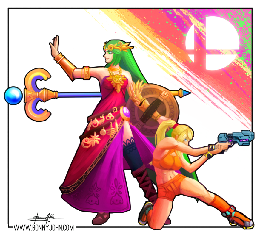 Smash 4 Mains - Palutena and Zero Suit Samus! by BonnyJohn