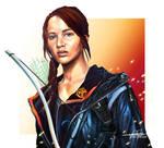 Katniss Everdeen - The Hunger Games Speed Paint! by BonnyJohn