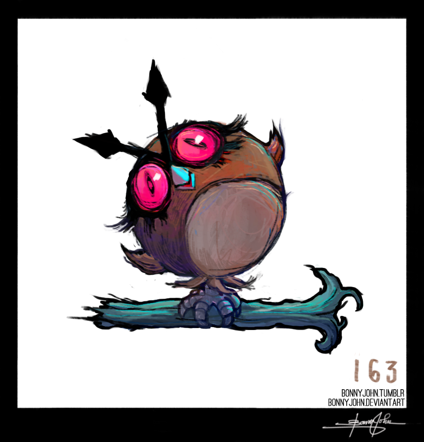 Hoothoot!  Pokemon One a Day, Series 2! by BonnyJohn