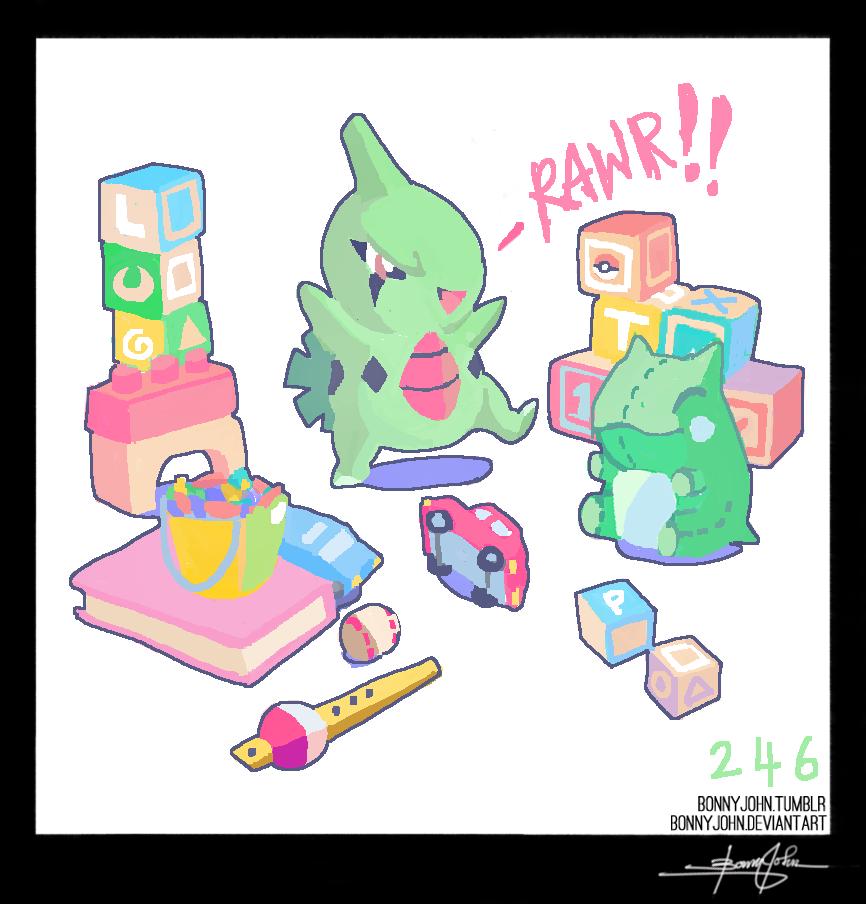 Larvitar!  Pokemon One a Day, Series 2! by BonnyJohn