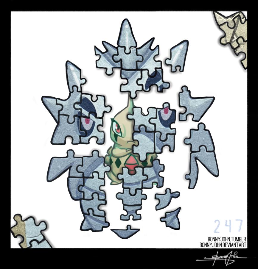 Pupitar!  Pokemon One a Day, Series 2! by BonnyJohn