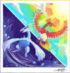 Lugia, Ho-Oh!  Pokemon One a Day, Series 2! by BonnyJohn